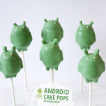 Cute robot android cake pops