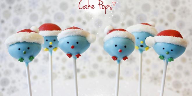 Vogel Cake Pops mit Weihnachtsmann Mütze: So geht's!