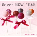 New Years Glitter Cake Pops